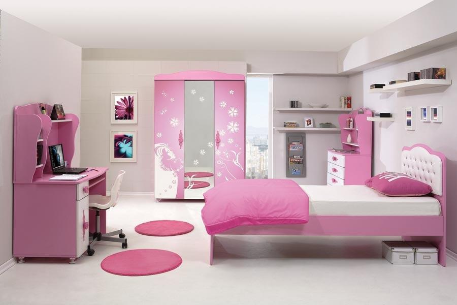 Seker kiz genc odasi jugendzimmer pink wei modeline ait for Jugendzimmer 6457