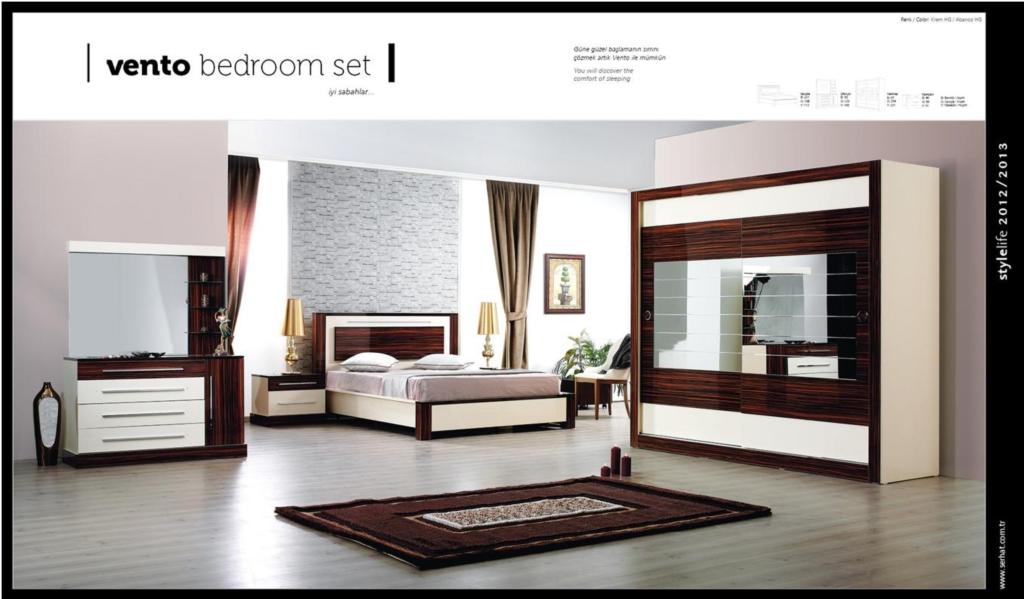 Slaapkamer Bruin Wit : Asır meubel slaapkamer vento bruin gebroken wit