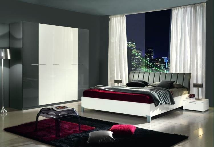 modern yatak odasi takimi italyan design metal ayakli. Black Bedroom Furniture Sets. Home Design Ideas