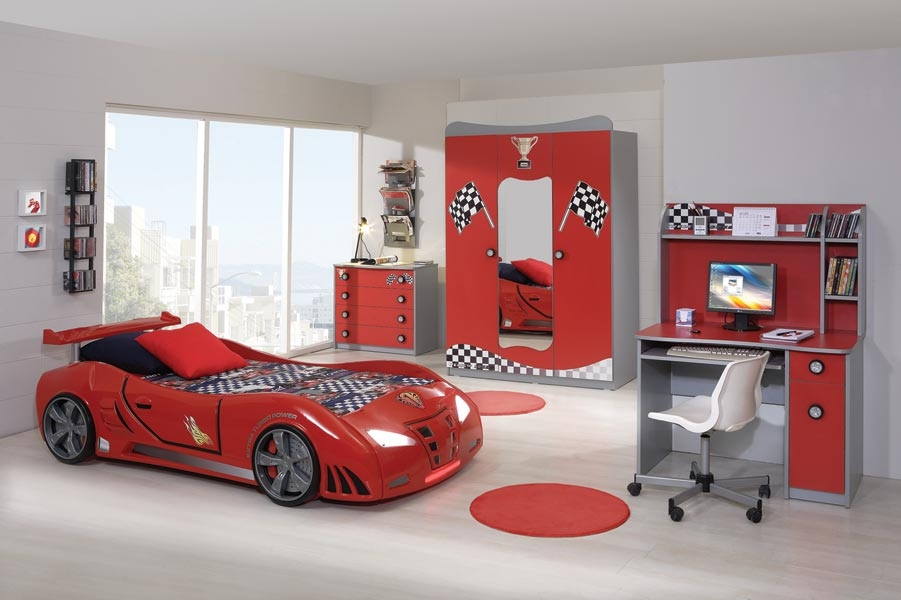 Weltew Weltew Genc Odasi Takimi Red Car Jugendzimmer Red