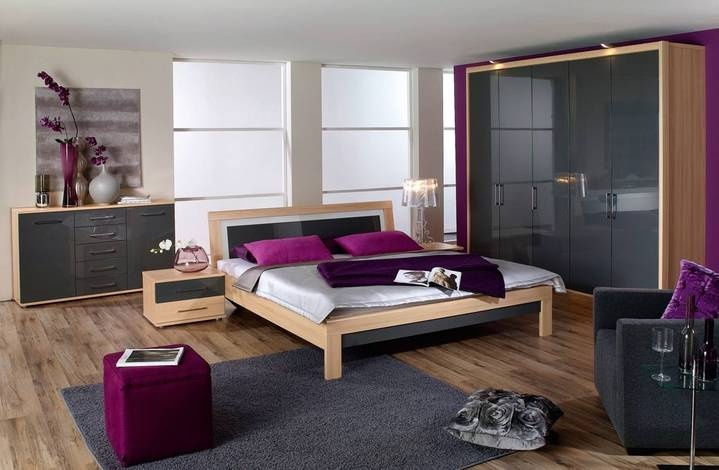 Axa Woiss Meubelen Gri Beyaz Renkli Modern Yatak Odasi