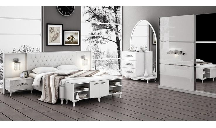 Melisa beyaz yatak odasi modeline ait detay sayfas for Wohndesign einrichtungs gmbh
