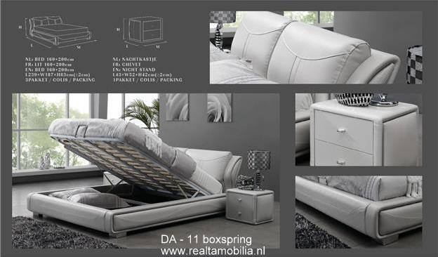 da 11 boxspring baza modeline ait detay sayfas