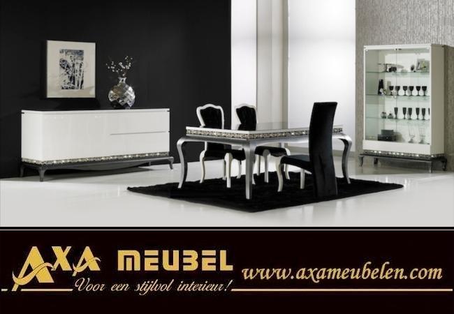 Axa woiss meubelen Ölçüye göre modern barok parlak yemek odası