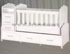 ERMODA Modüler Mobilya / Mercan Beşik 70*130 Asansörlü Beşik KARGO ÜCRETSİZ