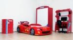 www.dekorsanal.com / Garaj Arabalı Genç Odası Kırmızı M7 Kırmızı Ledsiz