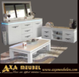 .AXA WOISS Meubelen / avantgarde swarovski taşlı beyaz parlak yemek odası