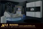 .AXA WOISS Meubelen / Yuvarlak yatak odası ve son moda televizyonlu gardrop