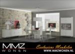 MMZ WONEN / modern design yemek odasi - beyaz parlak demir cerceveli