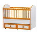Cicila Bebe Genç Mobilyaları / ALTTAN SALLANIR BEBEK KARYOLASI TURUNCU