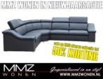 MMZ WONEN / Lux deri gorunumlu modern kose koltugu - Metal ayakli - Ayarlanabilir basliklar - Siyah