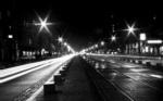 Alkapıda.com / Işıkların Aydınlattığı Yalnız Bir Sokak Canvas Tablo shr-452
