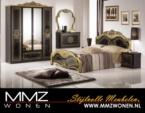 MMZ WONEN / Lux klasik yatak oda takimi - Aynali dolaplar - Altin gumus parlak -