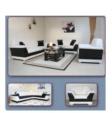 MMZ WONEN / modern italyan design - siyah beyaz pwc kumas koltuk takimi