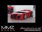 MMZ WONEN / Cars Turbo Araba Karyola Yatak Kirmizi Siyah Beyaz - Ferrari Audi Modeli Modern ve Kaliteli