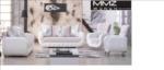 MMZ WONEN / avantgarde design koltuk takimi - suni deri kumas - tasli - beyaz lila