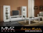 MMZ WONEN / Parlak Italyan Modern Design - Oturma Odasi Lambali Tasli Televizyon dolabi Vitrin