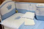 ALWAYS BABY / KRAL BEŞİK İÇİN UYKU SETİ mavi