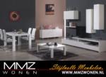 MMZ WONEN / modern italyan design oturma odasi takimi - beyaz parlak duvar unitesi - televizyon sehpasi