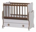 Cicila Bebe Genç Mobilyaları / MİDİ BEBEK KARYOLASI 50X85 CEVİZ