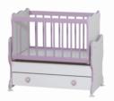 Cicila Bebe Genç Mobilyaları / MİDİ BEBEK KARYOLASI 50X85 LİLA
