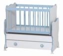 Cicila Bebe Genç Mobilyaları / MİDİ BEBEK KARYOLASI 50X85 MAVİ
