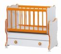 Cicila Bebe Genç Mobilyaları / MİDİ BEBEK KARYOLASI 50X85 TURUNCU