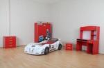 www.dekorsanal.com / Hızlı Arabalı Genç Odası Yavrulu Kırmızı M3 Extreme Full Işıklı