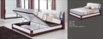 MMZ WONEN / modern design baza beyaz bordo deri tirabzanli parlak bordo