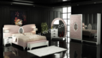 EVGÖR MOBİLYA / Özel İşlemeli Ayaklar Suite Avangarde Yatak Odası