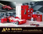 .AXA WOISS Meubelen / Ferrari arabalı yatak elbise dolabı çalışma masası komidin