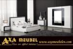.AXA WOISS Meubelen / parlak siyah beyaz avangarde modern yatak odası takımı