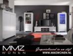 MMZ WONEN / Modern italyan design oturma odasi takimi - led lambali vitrin - televizyon sehpasi - matt beyaz