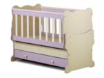 Cicila Bebe Genç Mobilyaları / İÇTEN SALLANIR BEŞİK 60X120 LİLA