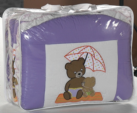 Cicila Bebe Genç Mobilyaları / LÜX APLİKELİ BEŞİK UYKU SETİ