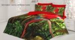 Alkapıda.com / Casa Dora Red Parrot 3 D Pamuk Saten Çift Kişilik Nevresim Takımı