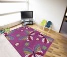 Adanex Discount Center / Kinder Teppich KIDS 0410 LILA 120 X 170 cm