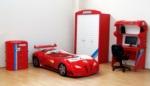 www.dekorsanal.com / Garaj Arabalı Genç Odası Kırmızı M3 Kırmızı Ledsiz