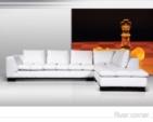 MMZ WONEN / modern koseli L-stili koltuk - beyaz siyah renkleri - komforlu yastiklar - deri kumas
