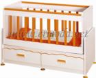 ERMODA Modüler Mobilya / inci mdf li 60x120 beşik - turuncu