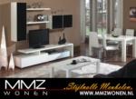 MMZ WONEN / modern italyan design oturma odasi takimi - parlak beyaz/siyah