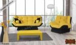 mobilyaminegolden.com / Kelebek Sarı Koltuk 3+3+1