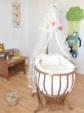 bebekonfor bebek beşikleri / Ahşap Sepet Beşik İçin Krem İtalyan Uyku Seti
