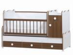 Cicila Bebe Genç Mobilyaları / BÜYÜYEN ASANSÖRLÜ BEŞİK 70X130 CEVİZ