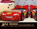 .AXA WOISS Meubelen / yarışçılara yakışır bir oda... CARS Şimşek Mc Queen araba karyola