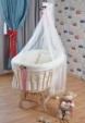 Bebekonfor bebek beşik uyku seti / Bebekonfor Doğal Bersava Beyaz Çiçekli Lilyum Set 2016