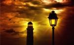 Alkapıda.com / Sokak Lambası ve Deniz Feneri Canvas Tablo dkrtf-670