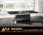 .AXA WOISS Meubelen / Modern tasarımlı swarovski taşlı şık orta sehpa