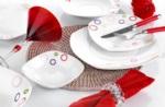 Alkapıda.com / Noble Life 28 Parça Marine Porselen Kare Yemek Takımı 14550