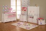 ERMODA Modüler Mobilya / Ermoda Sedef Bebek Odası 5 Parça